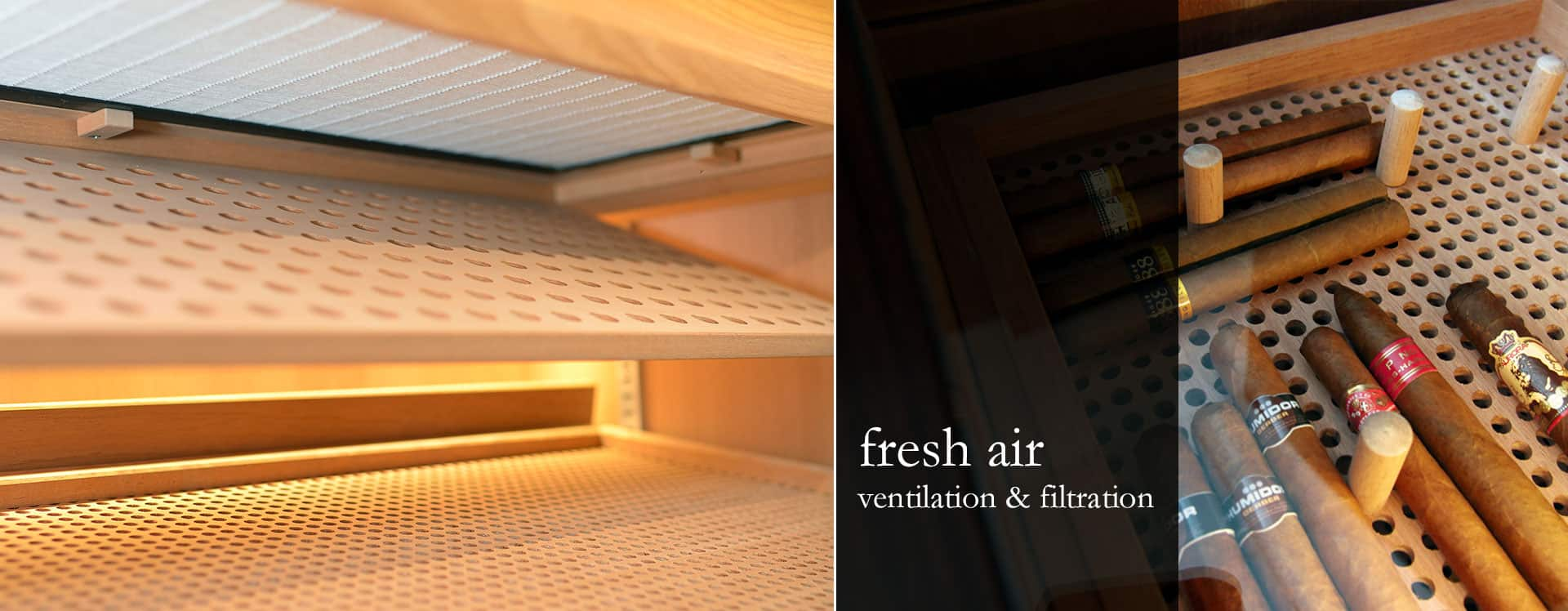 GERBER Humidors Ventilation & filtration systems