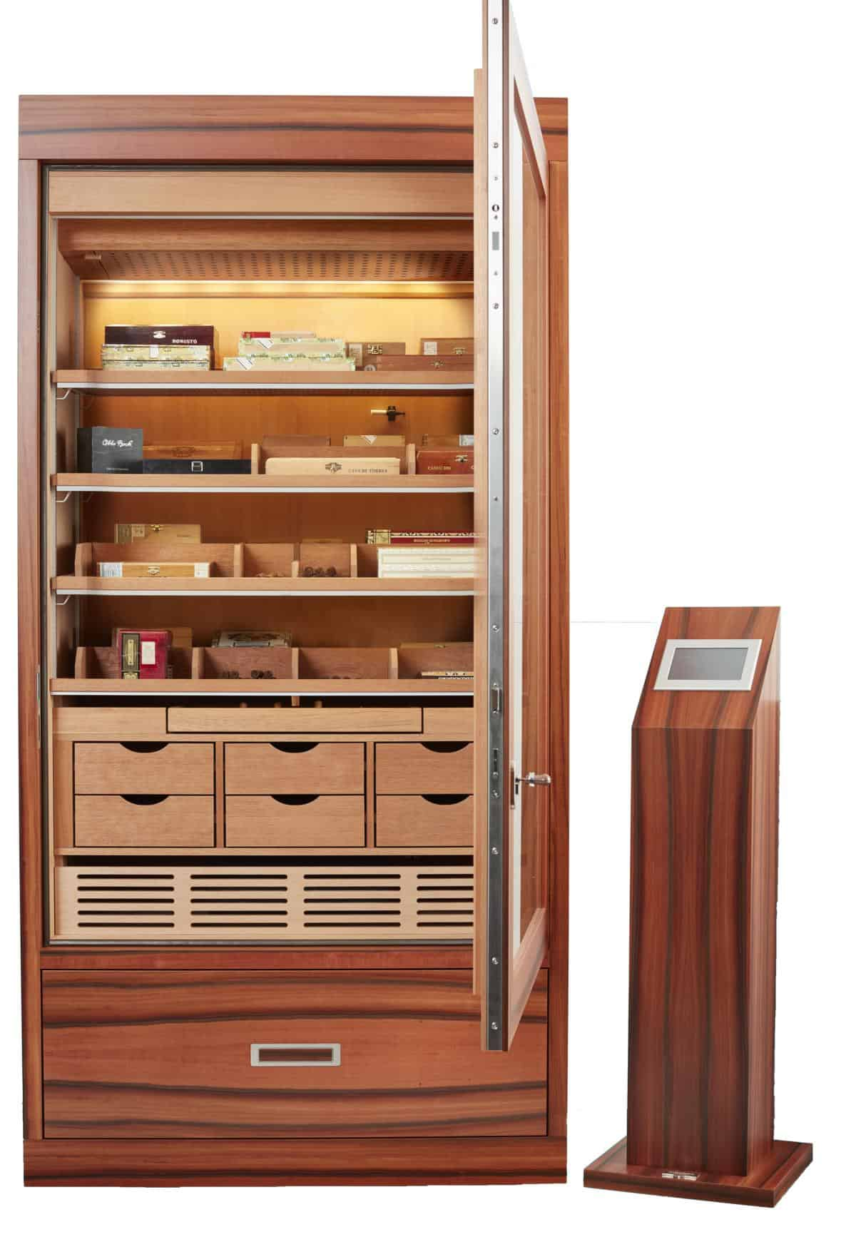 glass humidor churchill cabinet top cigar humidors