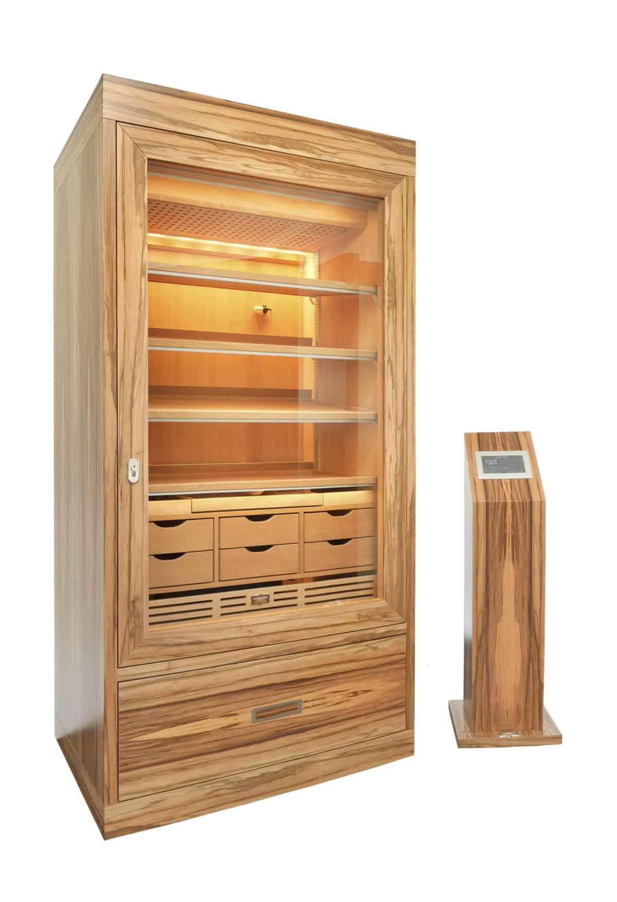 Cabinet Humidor Number One Satin Walnut » GERBER Humidors