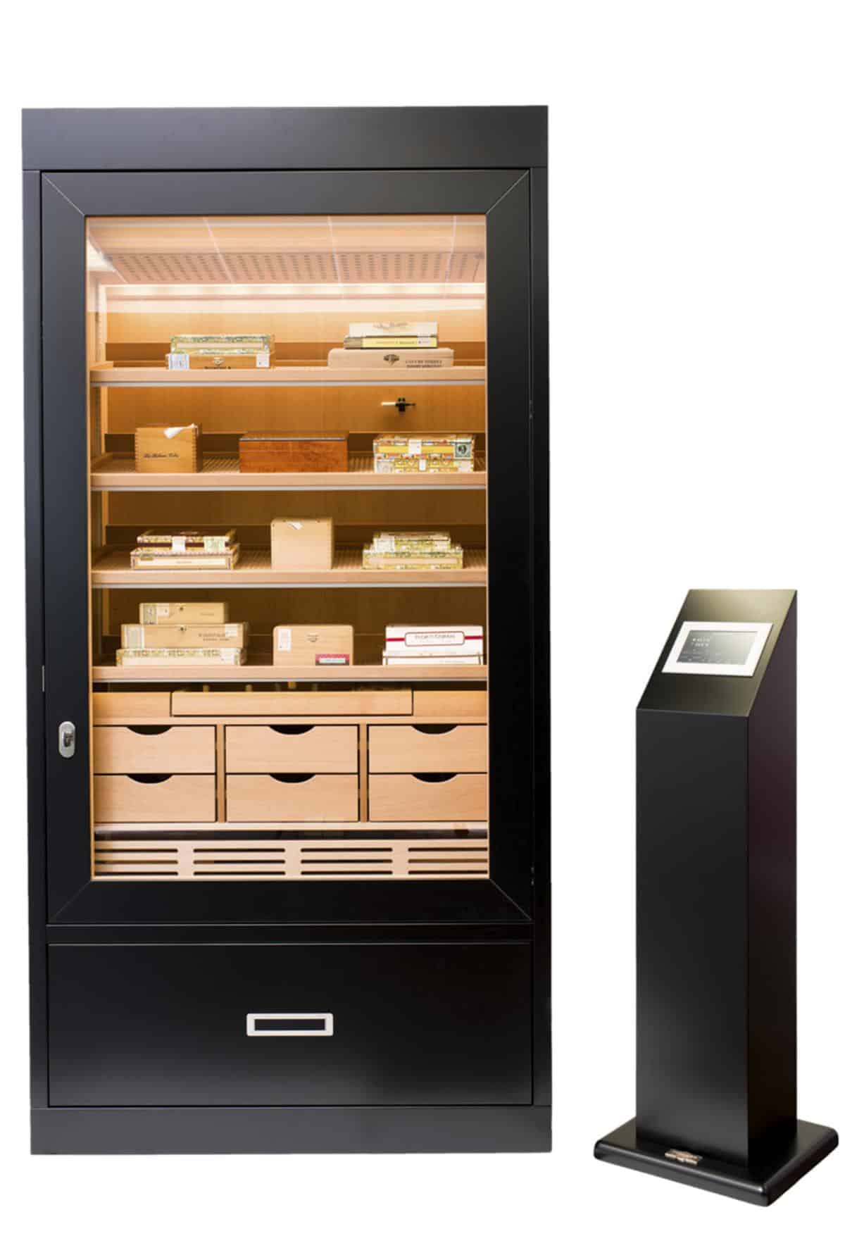 Cabinet Humidor Number One Black » GERBER Humidors