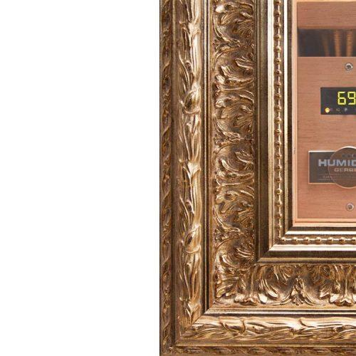 opulent golden frame CigarArt GERBER Humidor